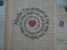 Maybe I'm Amazed Print Beatles Song Lyric  by TexasGirlDesigns,