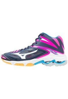 WAVE LIGHTNING Z3 MID - Zapatillas de voleibol - peacoat/white/pink glow