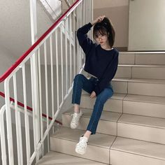 It'S so simple but, so cute fashion casual, fashion outfits, cute korean, Korean Fashion Shorts, Cute Asian Fashion, Korean Fashion Kpop, Korean Fashion Casual, Korean Fashion Trends, Ulzzang Fashion, Korean Street Fashion, Korean Outfits, Ulzzang Girl