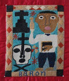 Haitian Art:Drapo Vodou, Beaded Flags