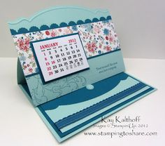 Stamping to Share: 2/15 Stampin' Up! Creative Elements Calendar Card
