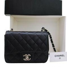 Chanel Caviar Leather Bag 36077 Black
