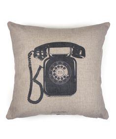 Look at this #zulilyfind! Vintage Telephone Throw Pillow by KNS #zulilyfinds