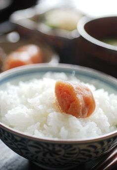 Simple Japanese Breakfast: Mentaiko (Spicy Pickled Cod Roe) on Rice