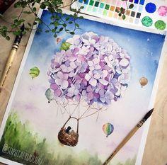 Воздушный шар из цветов