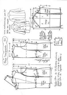 How to sew a T-shirt for Men - Sewing Method T Shirt Sewing Pattern, Blazer Pattern, Jacket Pattern, Baby Dress Patterns, Coat Patterns, Clothing Patterns, Vogue Patterns, Sewing To Sell, Love Sewing