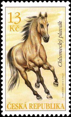 Stamp: Chlumetzer Horse (Equus ferus caballus) (Equus kinsky??) (Czech Republic) (Fauna) Mi:CZ 784,Sn:CZ 3585,AFA:CZ 792,POF:CZ 786