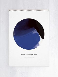 2016 Moon Calender by All the way to Paris for Paper Collective Stationary Branding, Stationary Design, Moon Calendar, 2016 Calendar, Turbulence Deco, Moon Phases, Graphic Design Typography, Types Of Art, Icon Design