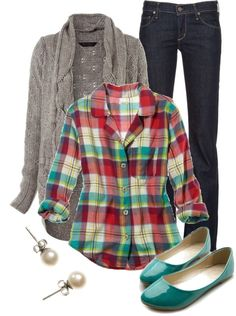 Casual Fall Outfits With Plaid Shirts - A cardigan is perfect for layering during fall. Style Work, Mode Style, Style Me, Casual Fall Outfits, Fall Winter Outfits, Autumn Winter Fashion, Winter Style, Style Summer, Spring Outfits
