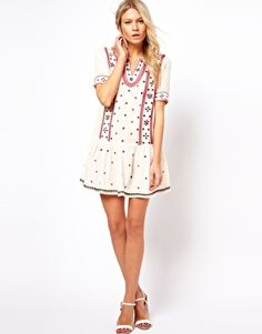 Embroidered Sun Dress - perfect for a concert or festival!