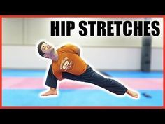 Some of my favorite hip stretches that enable me to obtain high kicks! If you do Taekwondo, Karate, or some other martial art that emphasizes kicking, this v. Upper Back Exercises, Hip Strengthening Exercises, Hip Flexor Exercises, Hip Stretches, Leg Stretches For Flexibility, Stretching, Good Back Workouts, Workout At Work, Hip Workout