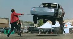 Buick Regal lowrider hops a skipping rope (jump rope) in the UK|  by CNET UK
