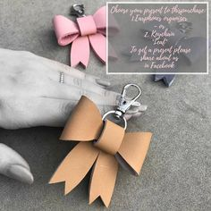 Our Leather Bow Keychain is a sweet way to dress up your keys, purse, or even your daughters backpack. These keychains are made of solid quality leather. The bow is securely attached to a silver hook. Each of our leather goods are handmade - from start to finish. The leather is hand