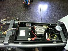 Under seat electronics tray (no cafe hump) Cb750 Cafe Racer, Suzuki Cafe Racer, Cafe Racer Parts, Cafe Racer Build, Tw Yamaha, Tw 125, Motorcycle Wiring, Brat Bike, Cx 500