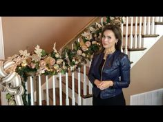 Want to decorate your stairway for Christmas? Lisa Robertson shows you how to create a garland that will impress your friends and neighbors when they walk in. Christmas Stairs, Christmas Entryway, Diy Christmas Garland, Dollar Tree Christmas, Outdoor Christmas Decorations, Rustic Christmas, Christmas Projects, Christmas Holidays, Christmas Trees
