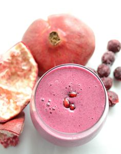 I know green smoothies are all the rage right now, but let's be honest, a pink smoothie looks so much more appetizing! I have a wonderfully healthy smoothie recipe for you today. It's naturally sweetened, packs the power of both pomegranate and sour cherries, and is dairy-free. Sour Cherry and Pomegranate Detox Smoothie is pretty