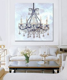 Another great find on #zulily! Frosted Chandelier Canvas #zulilyfinds