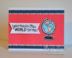 How to use 3D Foam Squares on a Birthday Card tutorial by Margie Higuchi for Scrapbook Adhesives by 3L Blog, using Lawn Fawn, Chameleon pens, Core'dinations supplies.