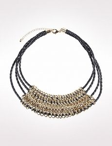 #Shopatico - Chain Link Cord Necklace