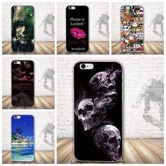 New Luxury Back Printing Case for iPhone 6 6s TPU Case Soft Dual Silicon Cover for iPhone 6 s 6 Mobile Phone TPU Gel Fundas Bag