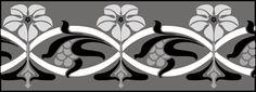 Art Nouveau Border No 120 stencils, stensils and stencles