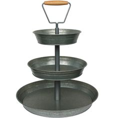 Better Homes and Gardens 3-Tier Galvanized Metal Stand - Walmart.com