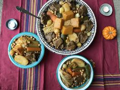 Couscous with zucchini, pumpkin, and squash