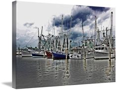 """""""Pass Christian Harbor"""" by Kyle Ferguson, Huntsville // Beautiful image of boats docked at the harbor in Pass Christian, MS on the Mississippi Gulf Coast // Imagekind.com -- Buy stunning fine art prints, framed prints and canvas prints directly from independent working artists and photographers."""