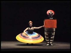 Das Triadische Ballet, 1989  Triadisches Ballett (Triadic Ballet) is a ballet developed by Oskar Schlemmer. It premiered in Stuttgart, on 30 September 1922, with music composed by Paul Hindemith, after formative performances dating back to 1916, with the performers Elsa Hotzel and Albert Berger. The ballet became the most widely performed avant-garde artistic dance and while Schlemmer was at the Bauhaus from 1921 to 1929, the ballet toured, helping to spread the ethos of the Bauhaus.