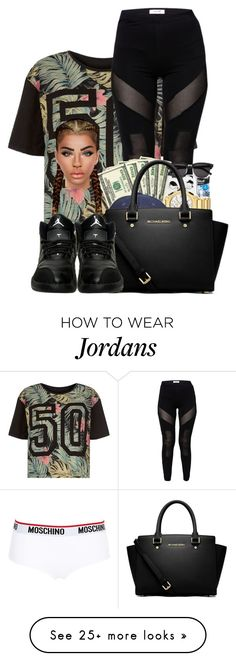 """♡♡♡♡♡♡"" by ballislife on Polyvore featuring MICHAEL Michael Kors and Moschino"