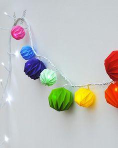 Shake My Blog | Une guirlande de boules colorées DIY