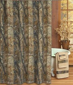Realtree AP Camouflage Shower Curtain