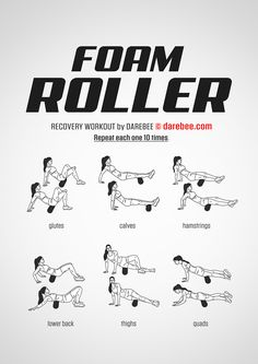 Foam Roller Workout by DAREBEE #darebee #fitness #workout #foamroller