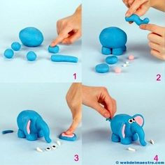 Arts and crafts of plasticine for children. Do it yourself Arts and crafts of plasticine for children. Clay Crafts For Kids, Kids Clay, Easy Crafts, Arts And Crafts, Children Crafts, Fondant Cake Toppers, Fondant Figures, Fondant Cakes, Fondant Animals