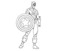 Powerful Captain America Coloring Pages. In March one of the first comic-strip superheroes and one of the longest-lived: Captain America arrived on newsst Minion Coloring Pages, Bee Coloring Pages, Avengers Coloring Pages, Superhero Coloring Pages, Marvel Coloring, Coloring Pages For Boys, Printable Coloring Pages, Kids Coloring, Captain America Maske