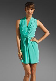 dda50d2aaf330 Shop for Amanda Uprichard Sleeveless Tie Front Dress in Mint at REVOLVE.