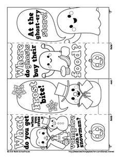 Happy Happy Halloween - Color-in Joke Bookmarks, a freebie from LittleRed