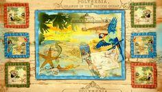 Tropical Dreams Fabric Panel Treasured Islands Ocean Beach Fabric Sand | auntiechrisquiltfabric - Craft Supplies on ArtF