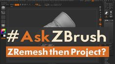 "#AskZBrush - ""How can I ZRemesh a model then transfer the details back?"" Ask your questions through Twitter with the hashtag #AskZBrush. Our team of experts ..."
