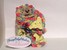 Dynamic Crocheted Baby Blanket  Yellow and by SleepyBabyBlankets