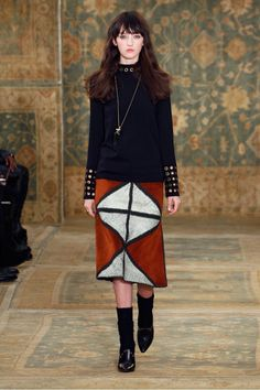 Tory Burch F/W 15: '70s Silhouettes Infused With Moroccan Tones via @WhoWhatWear