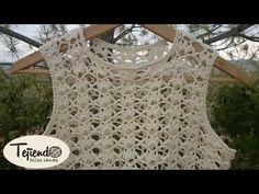 Crochet Spiderweb - Jersey a ganchillo Crochet Collar, Crochet Blouse, Crochet Lace, Crochet Stitches, Crochet Bikini, Crochet Patterns, Crochet Hairband, Knitting Videos, Crochet Videos