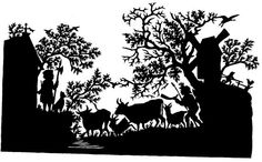 Handmade Paper Cut Silhouettes Paper cutting by esilhouettesart, $15.00