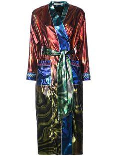 Mary Katrantzou marble oil design kimono jacket