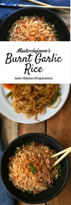 Burnt Garlic Rice _ A delicious quick Indochinese rice .a must try recipe! Indian Food Recipes, Asian Recipes, Vegetarian Recipes, Cooking Recipes, Chinese Recipes, Chinese Rice Recipe, Easy Rice Recipes, Easy Dinner Recipes, Snacks Recipes