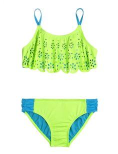 Cutout Flounce Bikini Swimsuit | Girls Bikinis Swimsuits | Shop Justice