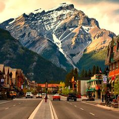 Banff, Alberta, Canada- one of the most gorgeous spots in the world and right across the border from Glacier National Park in Montana.  A must see!
