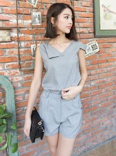 Stylish New Linen Blouse Sports Suit