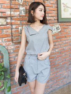 Stylish New Linen Blouse Sports Suit