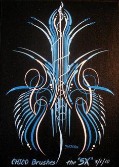 Pinstriping and Kustom Kulture Rat Rods, Custom Motorcycle Paint Jobs, Cars Vintage, Pinstripe Art, Pinstriping Designs, Car Pinstriping, Muster Tattoos, Pt Cruiser, Pin Up
